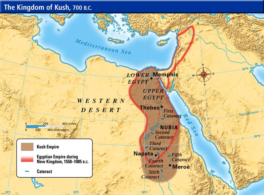 Kush Kingdom ThingLink - Map of egypt kush