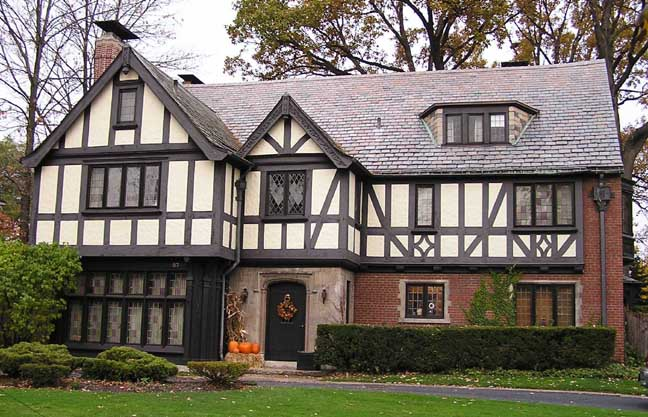 Tudor houses are mainly characterized by their wooden tim... - ThingLink