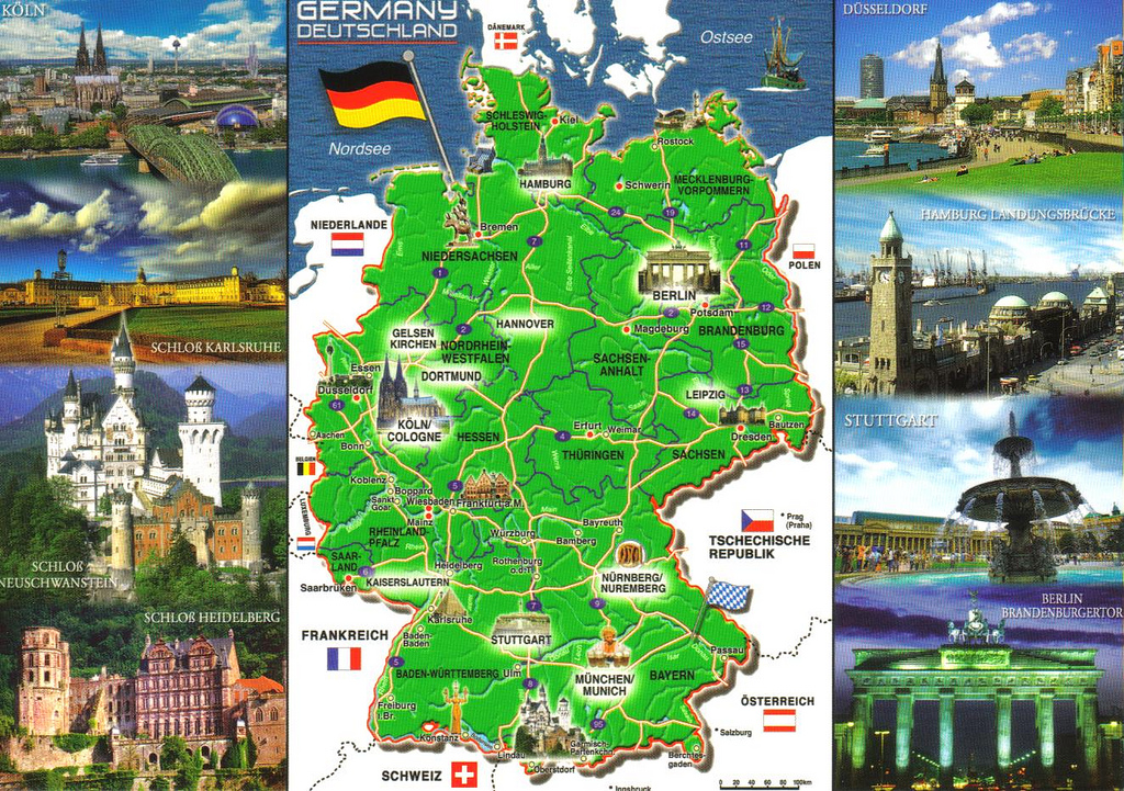 Tourism In Germany ThingLink - Germany map for tourist