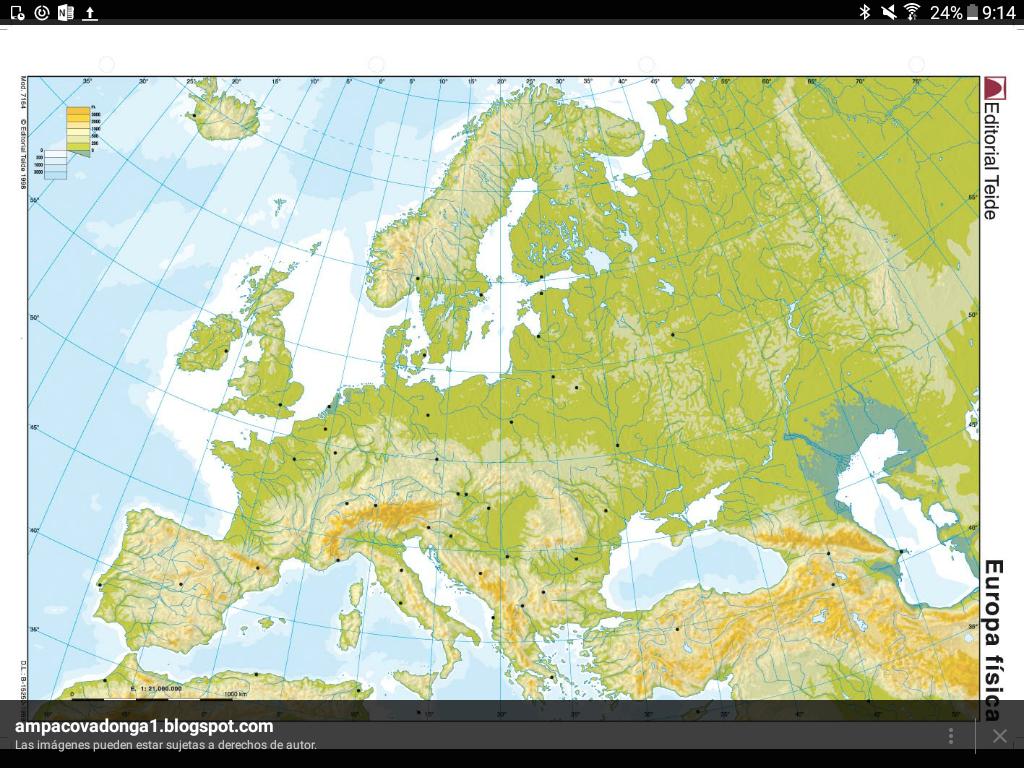 Mapa De Europa Png.Mapa Fisico De Europa Rafael