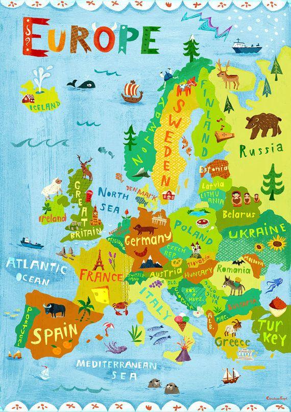 europas hovedstader map