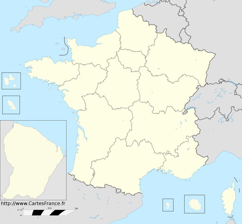 carte des nouvelles régions françaises LES NOUVELLES REGIONS DE FRANCE