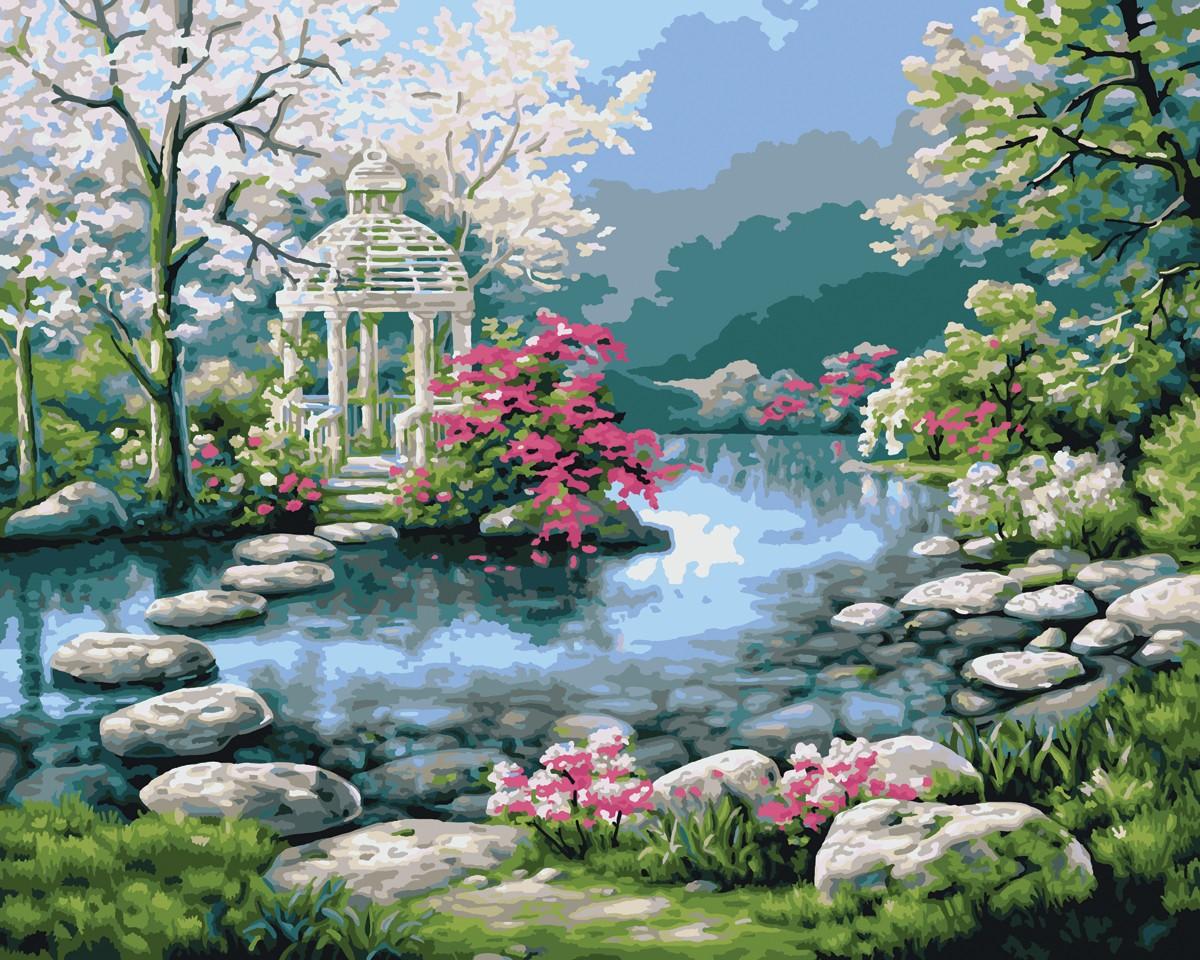 japanese flower garden thinglink - Simple Flower Garden Paintings