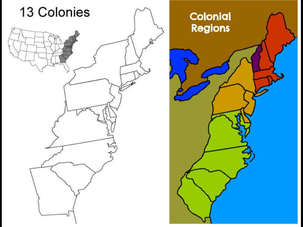 13 Colonies Map - Adam Miller on