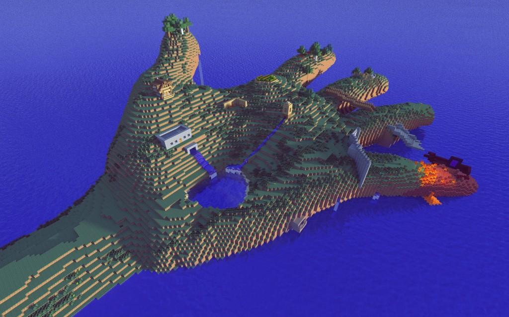 Minecraft Hand Island