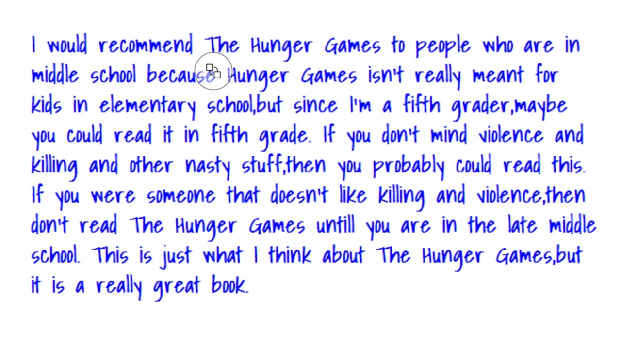 hunger games book report help Book report on the hunger games place at the arena in which the hunger games take place every year, the games are in a different arena this year, the games.