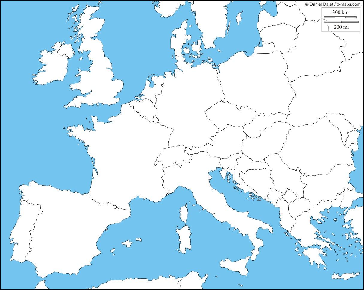 Carte Europe Km.Carte De L Europe