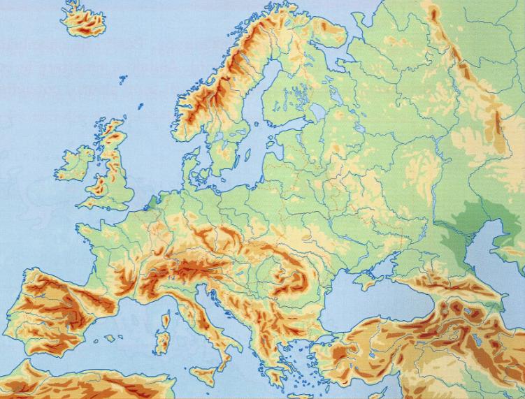 Cartina Muta Europa Centrale.L Europa E I Suoi Monti C G