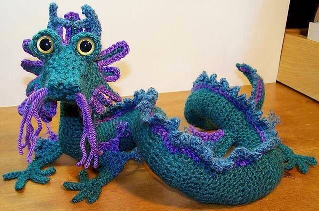This Is A Chinese Dragon Crochet And You Can See The Guy