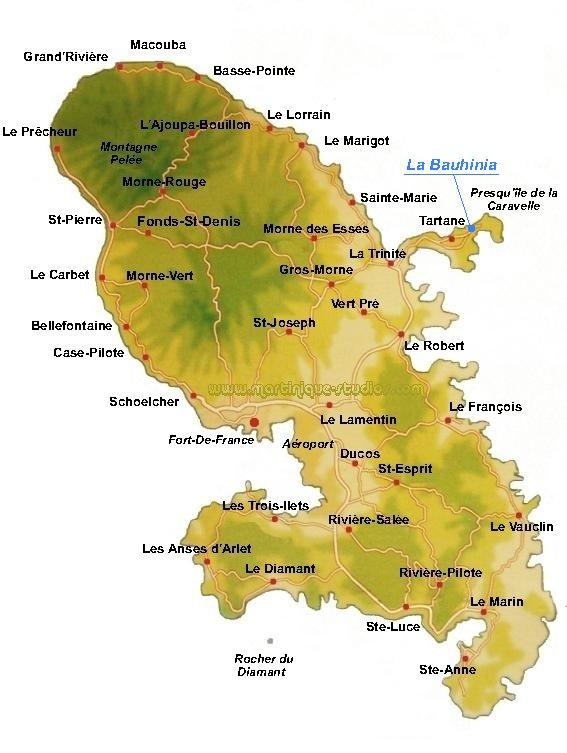 carte de la martinique à imprimer La Martinique