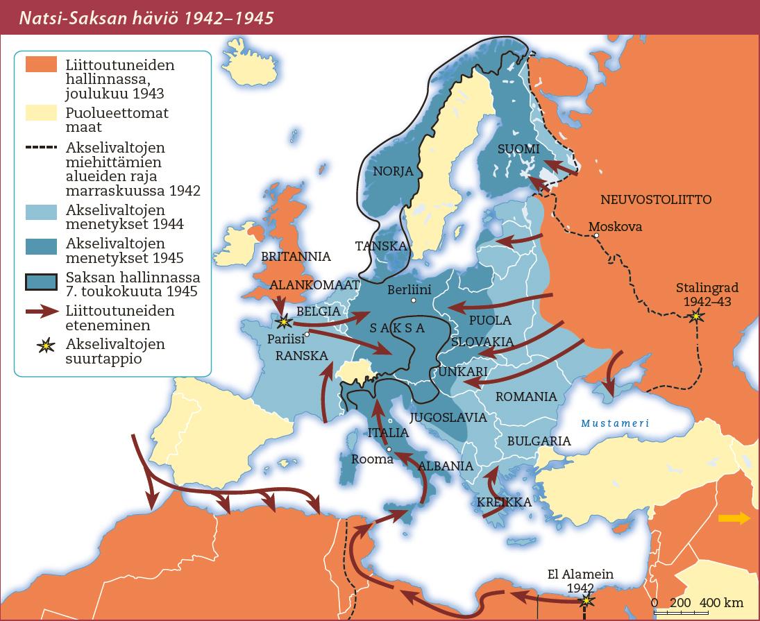 Kah2 Natsi Saksan Havio Kartta