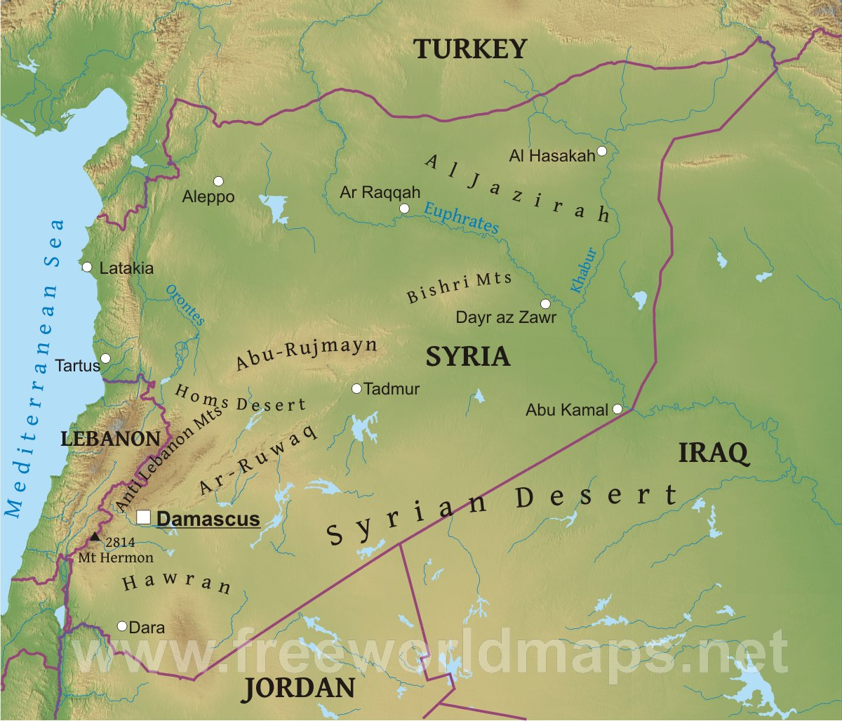 Map Of Syria ThingLink - Where is syria