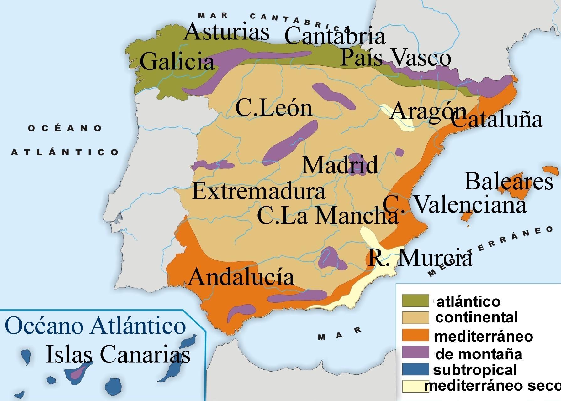 Climas En Espana