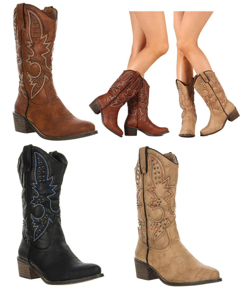 Women Cowboy Boots- Wide Width Cowboy Boots
