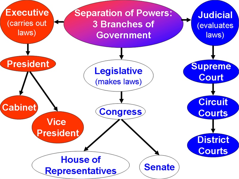 """the issue of the separation of powers in the house of representatives The separation of powers in the united states may be rigid because the absence of the right of dissolution with regard to congress is coupled with the absence of questioning of the """"political"""" responsibility of the president and his collaborators, when the president is elected by the people."""