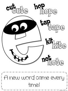 how to teach silent e words