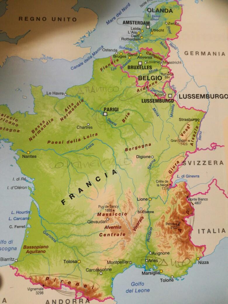 La Francia Cartina.Cartina Francia