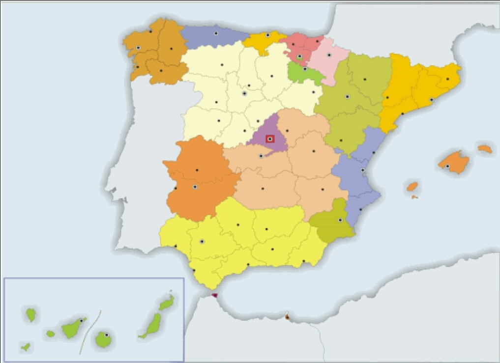 Mapa Politic Espanya