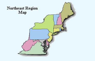 Emilia ThingLink - Blank map of the northeast region of the us