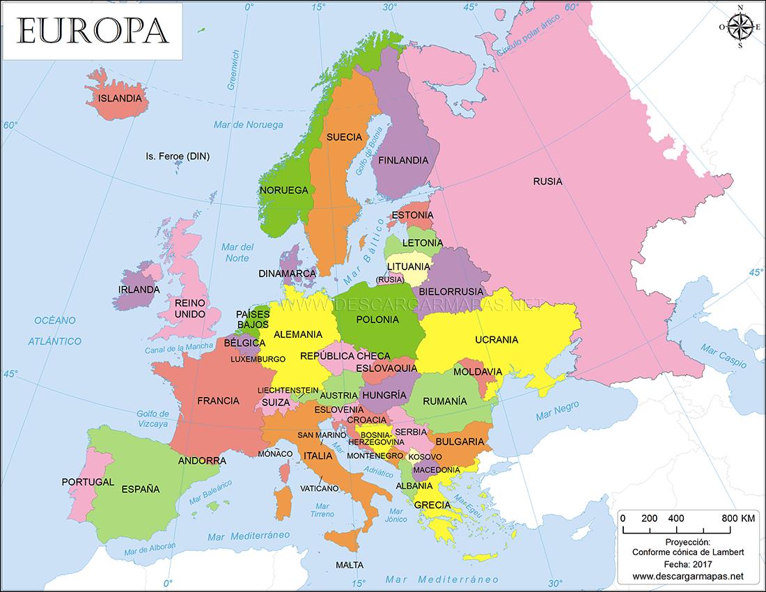 El Mapa De Europa.Mapa Interactivo De Europa Guerra Fria