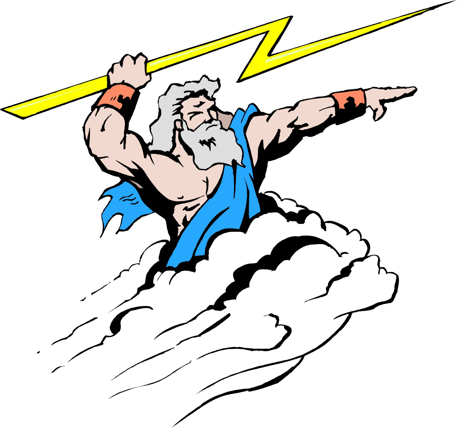 The Lightning Bolt Is One Of Zeus S Symbols