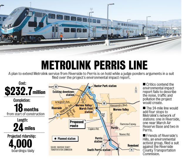 Perris Valley Metrolink Project Statistics