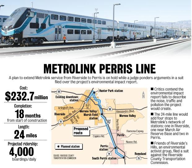Perris Valley Metrolink Project Statistics