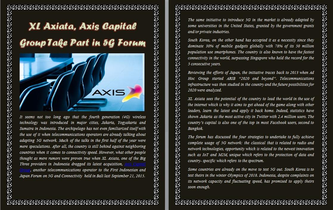 axiata jakarta xl axis capital group Axiata sees data as key growth driver, various developments underway to improve network the jakarta globe xl axiata axis capital group merger plans .