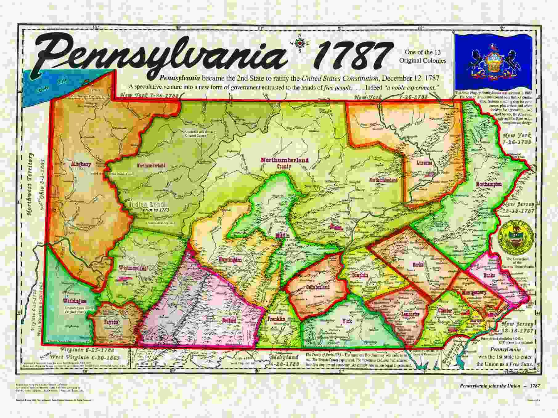 Map Of Pennsylvania Colony Missouri Map - Penn map state maps