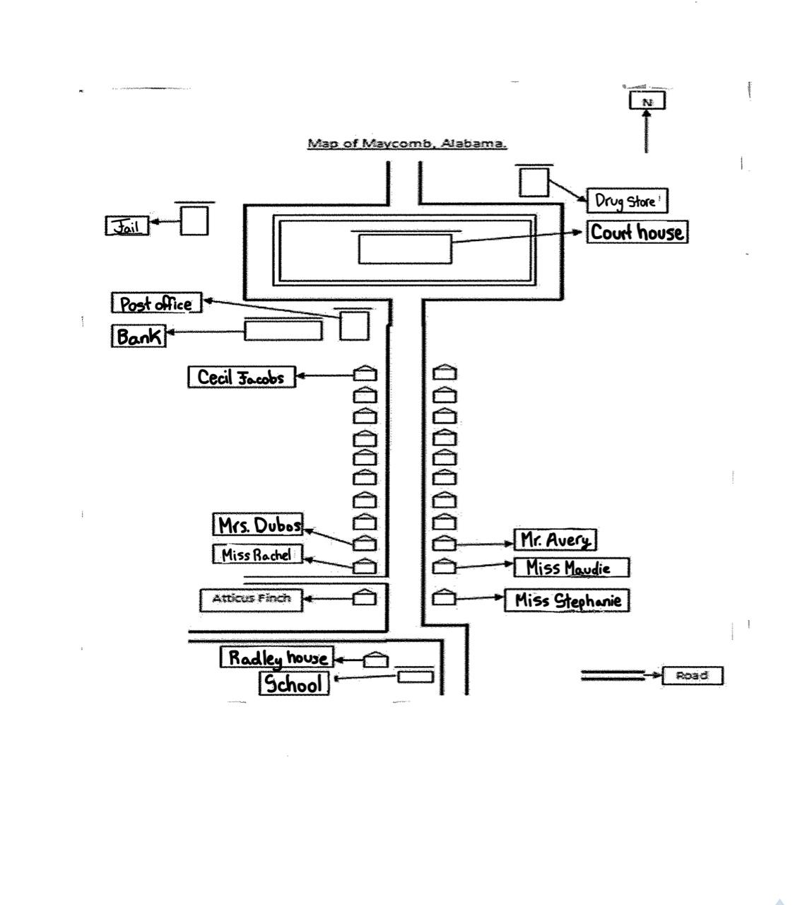 Map of Maycomb - ThingLink