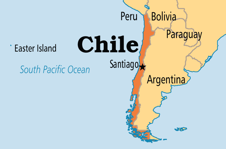 Image result for chile map