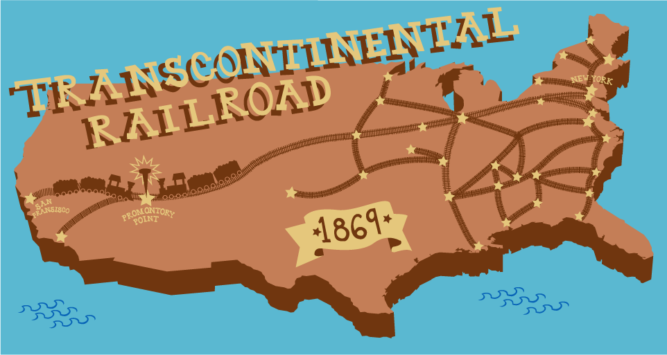 The Transcontinental Railroad ThingLink - Us transcontinental railroad map