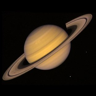 Saturn with naked eye can suggest