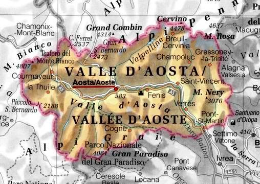 Chamonix Cartina Geografica.La Valle D Aosta