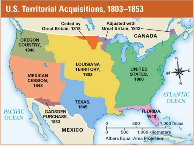 Westward Expansion Thinglink: Map Of Us During Westward Expansion At Usa Maps
