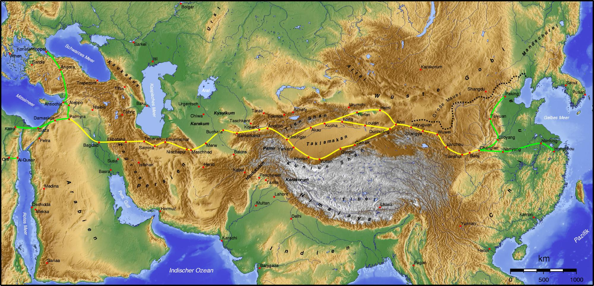 the silk road Introduction more than two thousand years ago, china's han dynasty launched the silk road, a sprawling network of commerce that linked south and central asia with the middle east and europe.