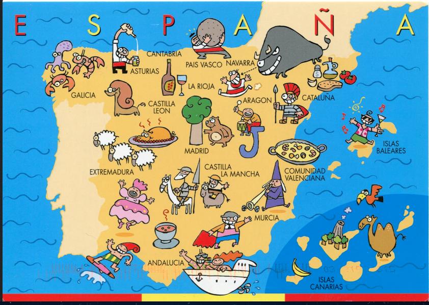 Map Of Spain For Children.Spain Test
