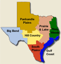 Piney Woods Texas Map