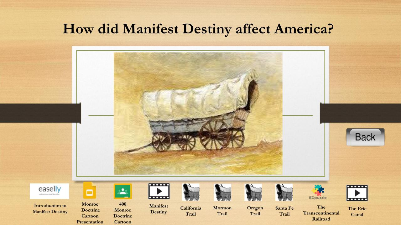manifest destiny and monroe doctrine the