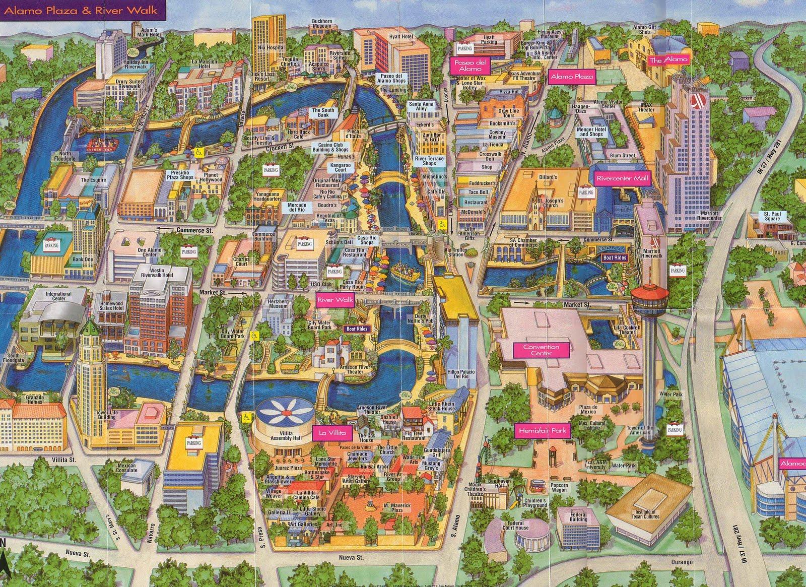 Map of Downtown San Antonio Downtown San Antonio History