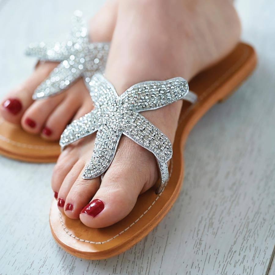4feb9f91ea4ae Beaded Starfish Sandals