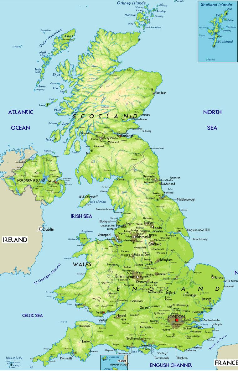 Cartina Fisica Del Regno Unito.Economia Regno Unito