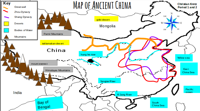 Map Of Ancient China Map of Ancient China By Christian Kretz Map Of Ancient China