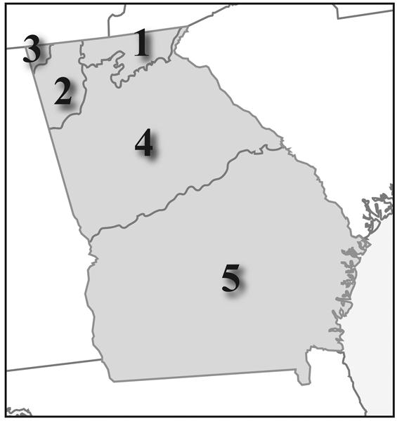 Georgia Regions Coastal Plains