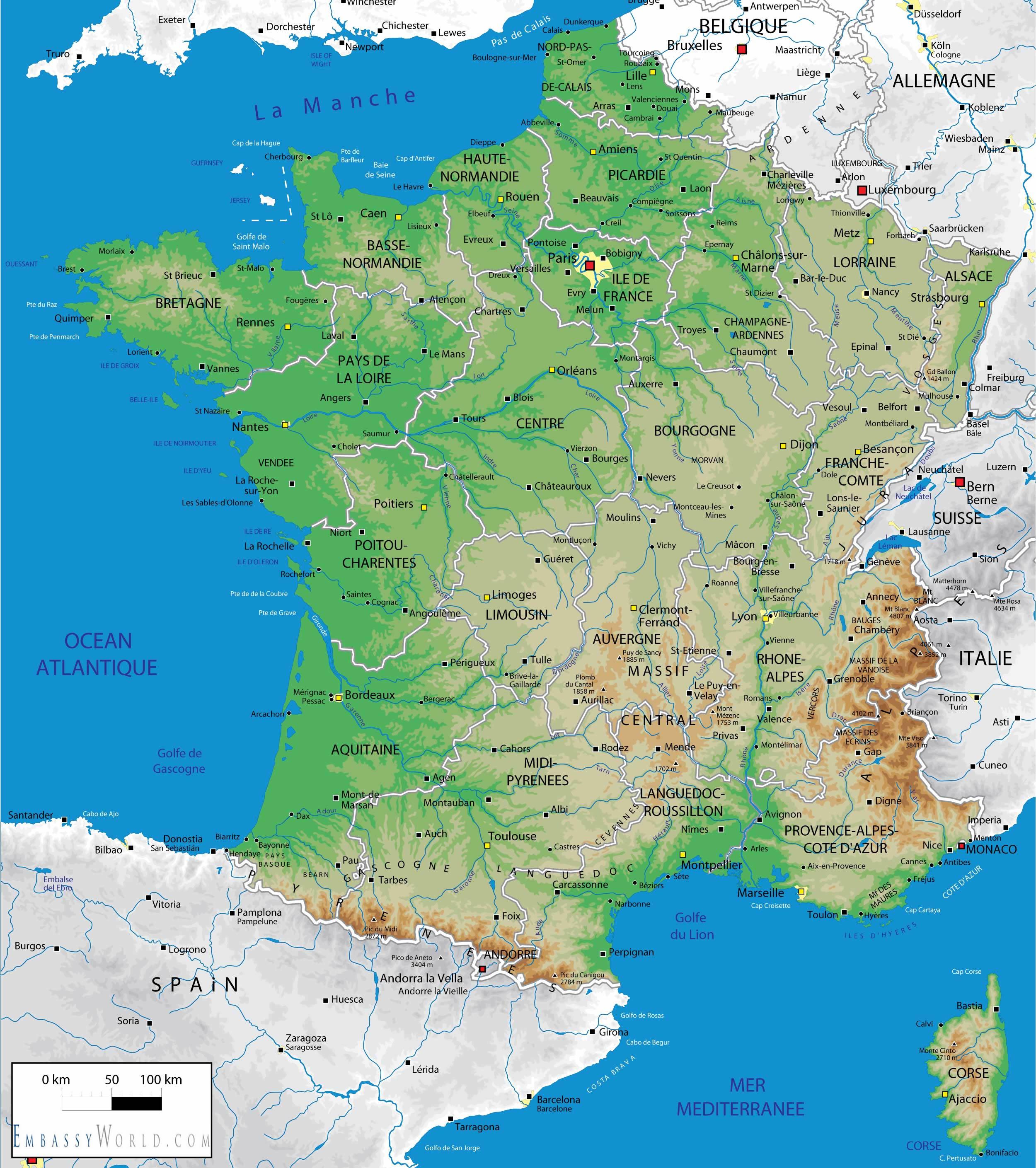 Cartina Fisica Francia Montagne.Geografia Francese Lessons Tes Teach