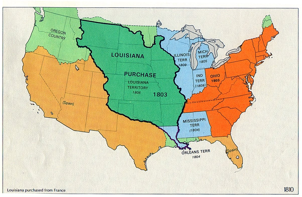 The Louisiana Purchase was purchased by Thomas Jefferson