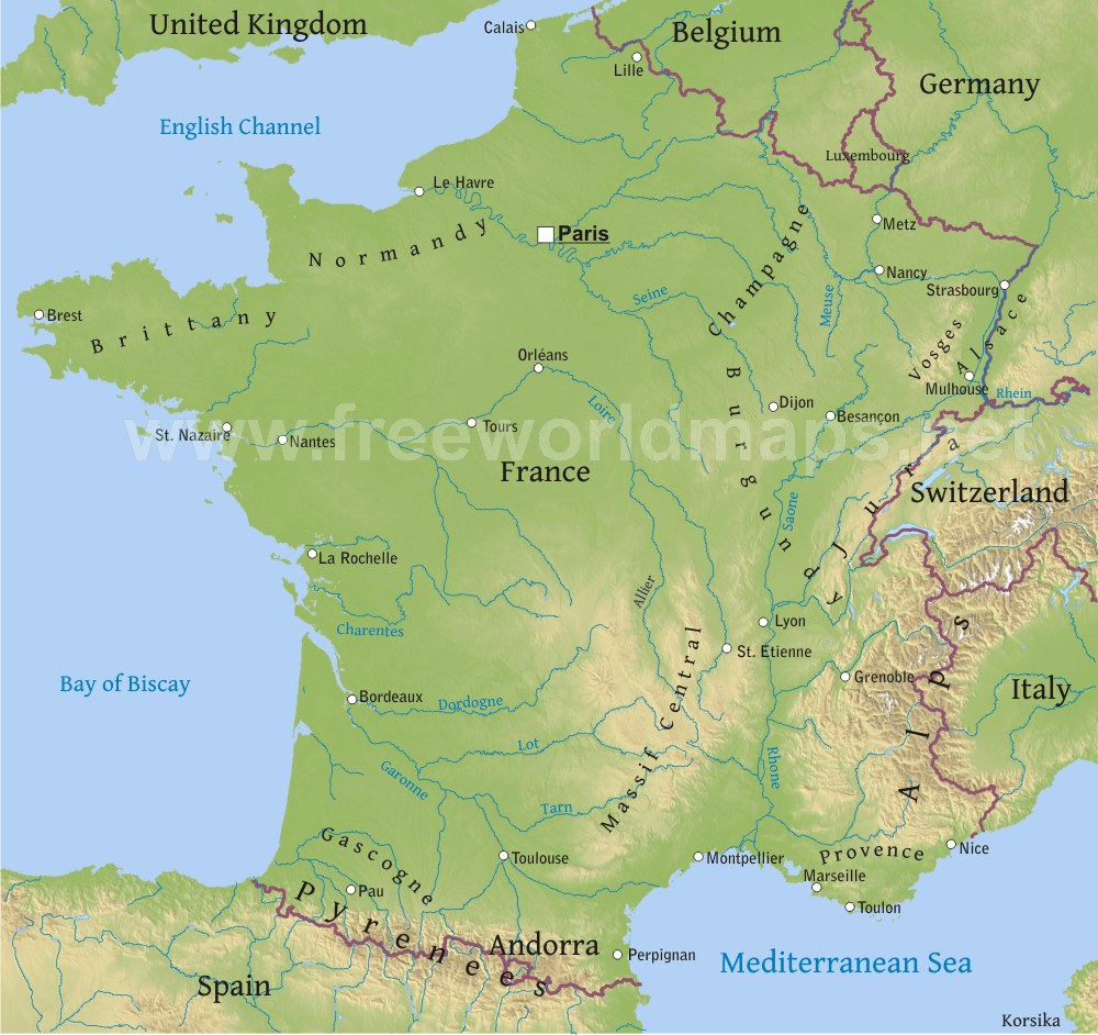 Physical Geography of France - ThingLink
