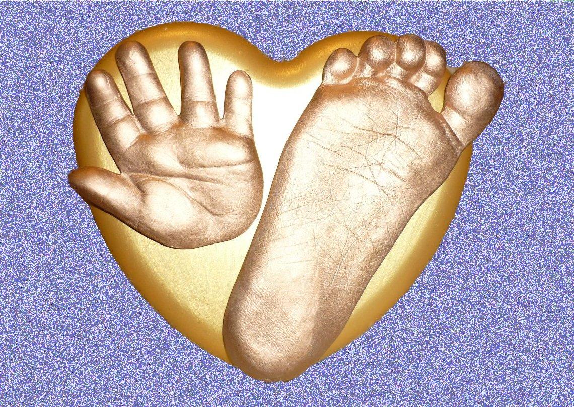 Отпечаток ножки из гипса своими руками