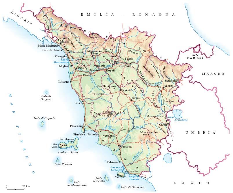 Toscana Politica Cartina Geografica.La Toscana Alexandra Forest