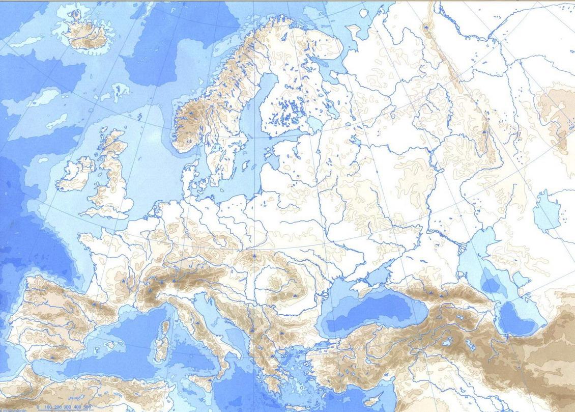 Mapa D Europa Rius I Muntanyes